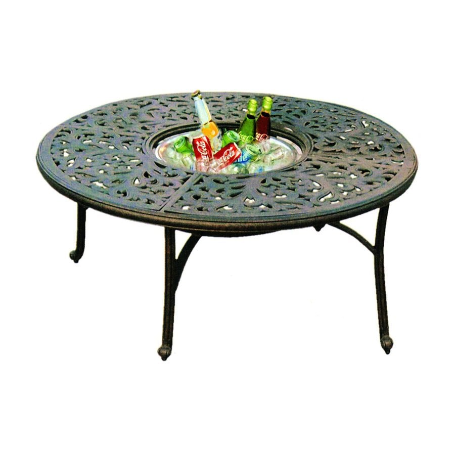Shop darlee series 80 52 in w x 52 in l round aluminum for Coffee table 80 x 80
