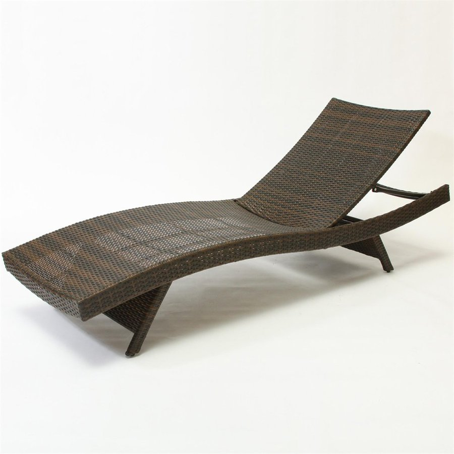 Shop best selling home decor multi brown wicker stackable - Folding outdoor chaise lounge ...
