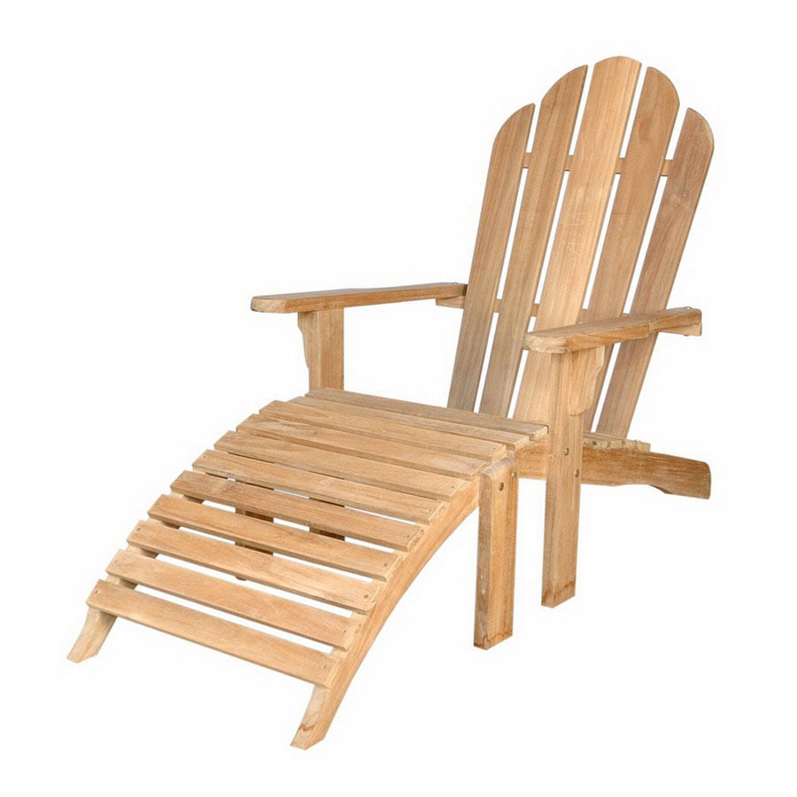 Anderson Teak Natural Teak Patio Adirondack Chair