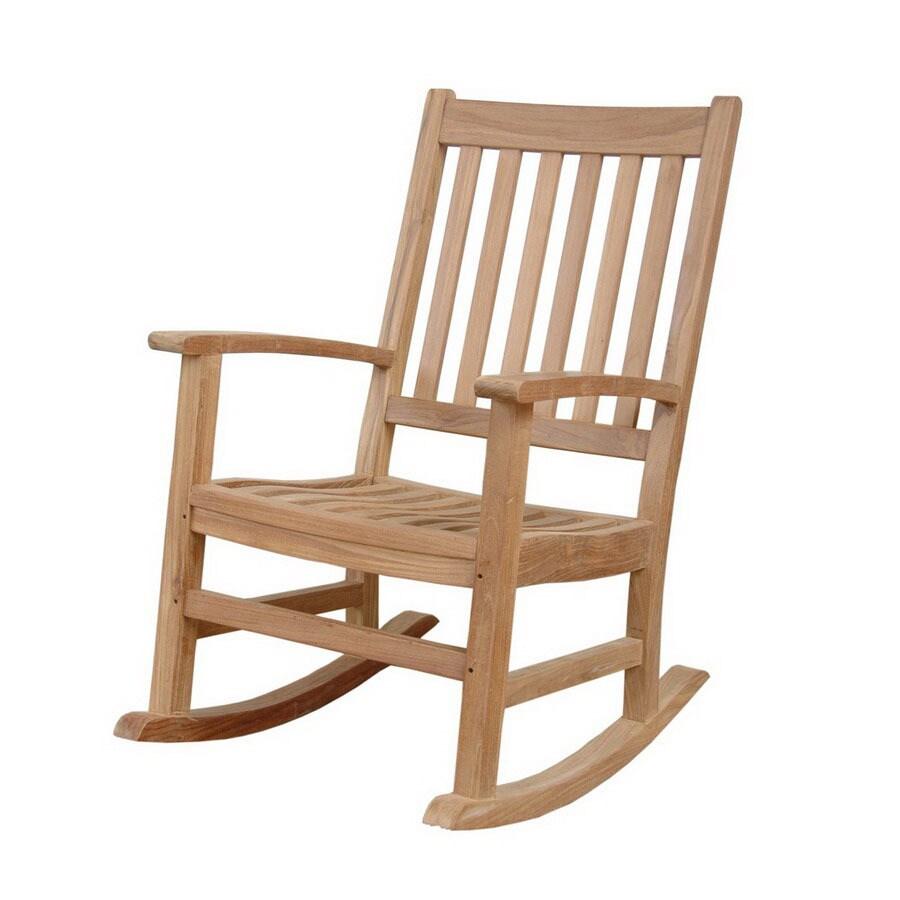 Anderson Teak Palm Beach Natural Teak Patio Rocking Chair