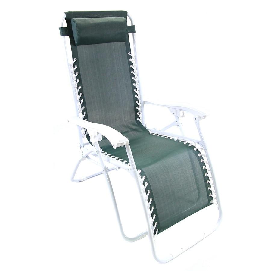 Jordan Manufacturing Green Steel Folding Patio Zero Gravity Chair