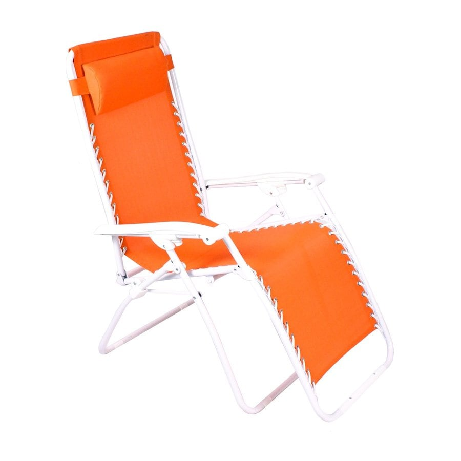 Shop Jordan Manufacturing Orange Steel Folding Patio Zero