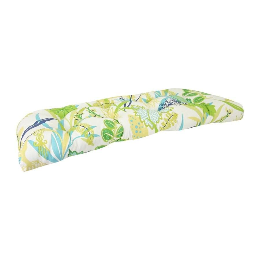 Jordan Manufacturing Fishbowl Aquamarine Floral Cushion For Loveseat