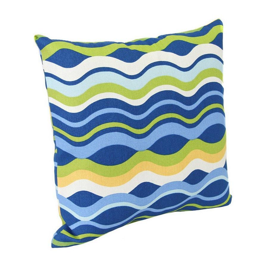 Shop Jordan Manufacturing Variations Poolside Stripe Square Outdoor Decorative Pillow At