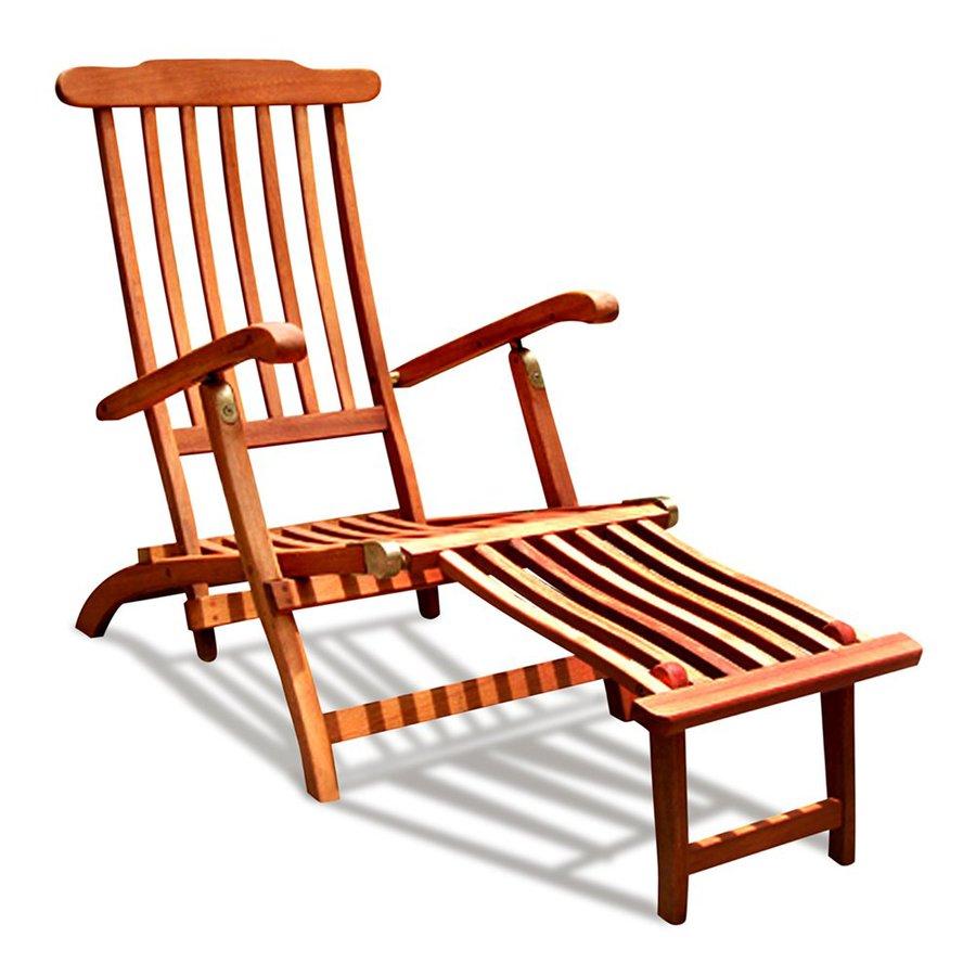 shop vifah eucalyptus folding patio chaise lounge chair at. Black Bedroom Furniture Sets. Home Design Ideas