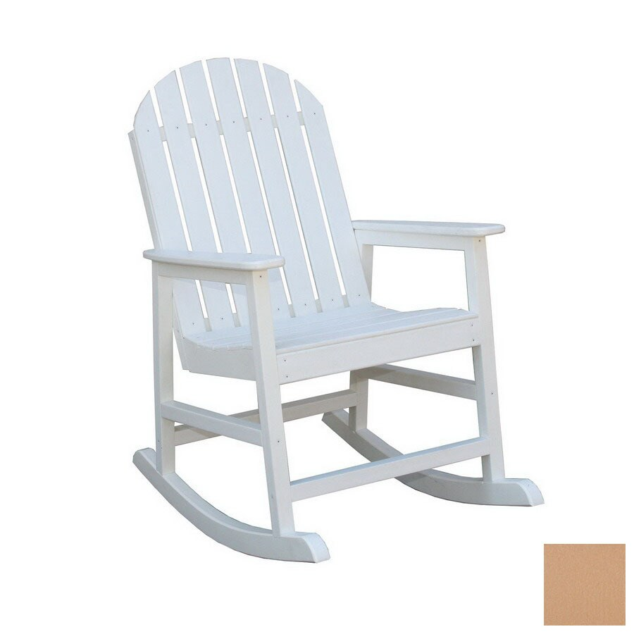 ... Eagle One Alexandria Cedar Plastic Outdoor Rocking Chair at Lowes.com