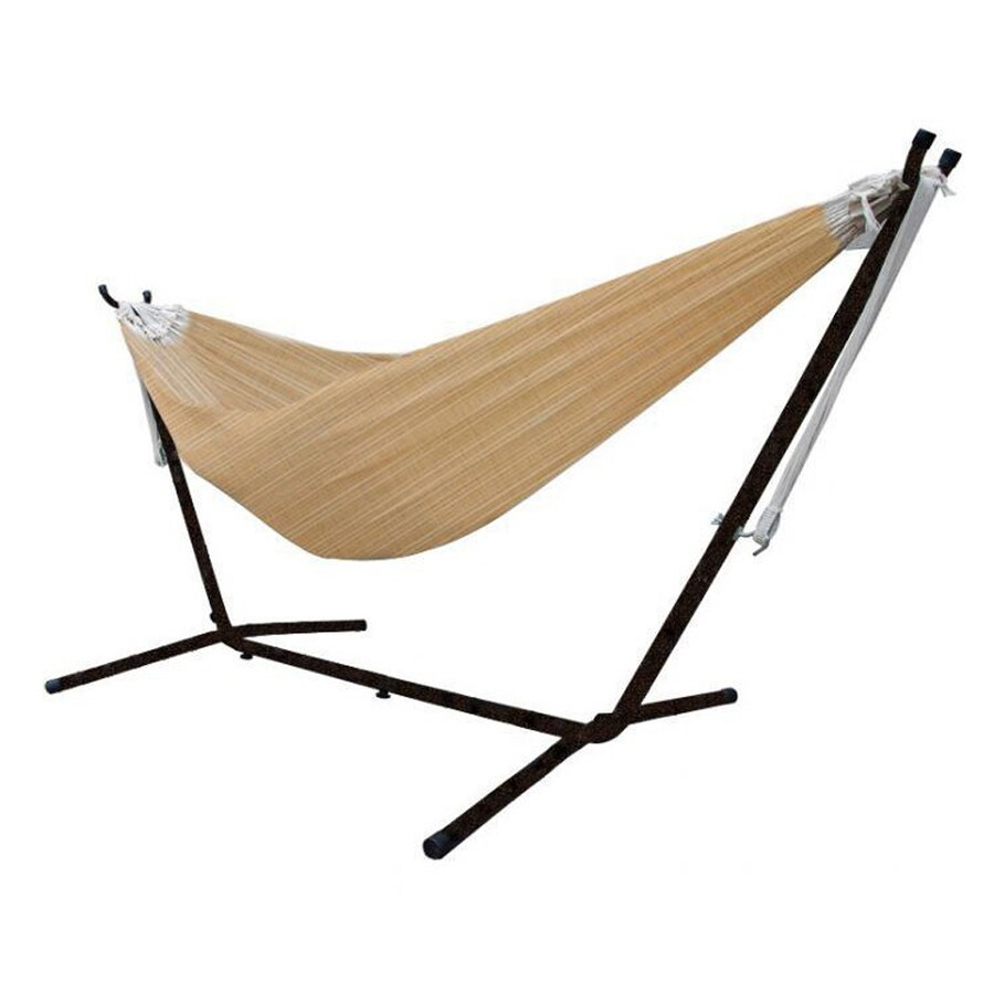 Vivere Sand Fabric Hammock Stand Included