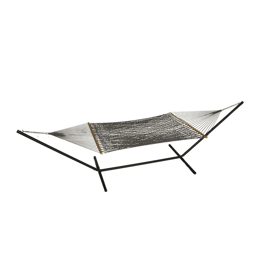 Phat Tommy Outdoor Oasis Graphite Rope Hammock