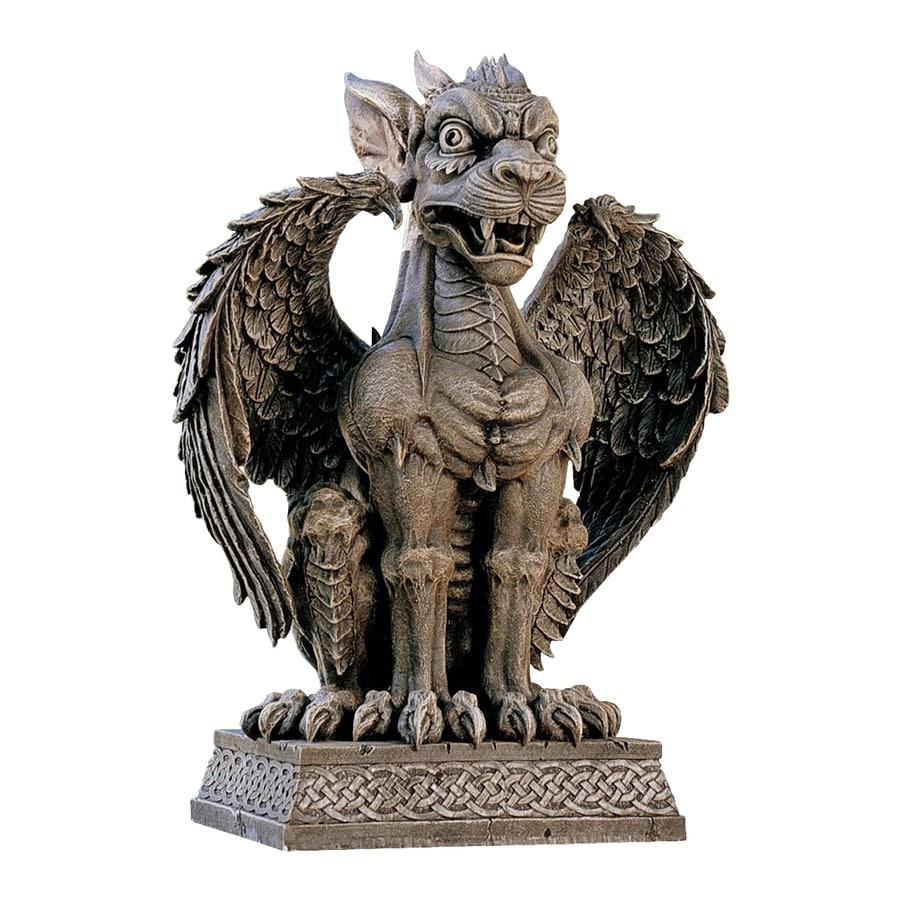 Design Toscano Boden Gargoyle Sentinel 24-in Dragon Garden Statue