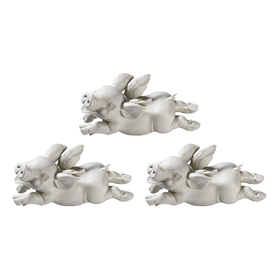 Design Toscano If Pigs Had Wings 9-in Animal Garden Statue