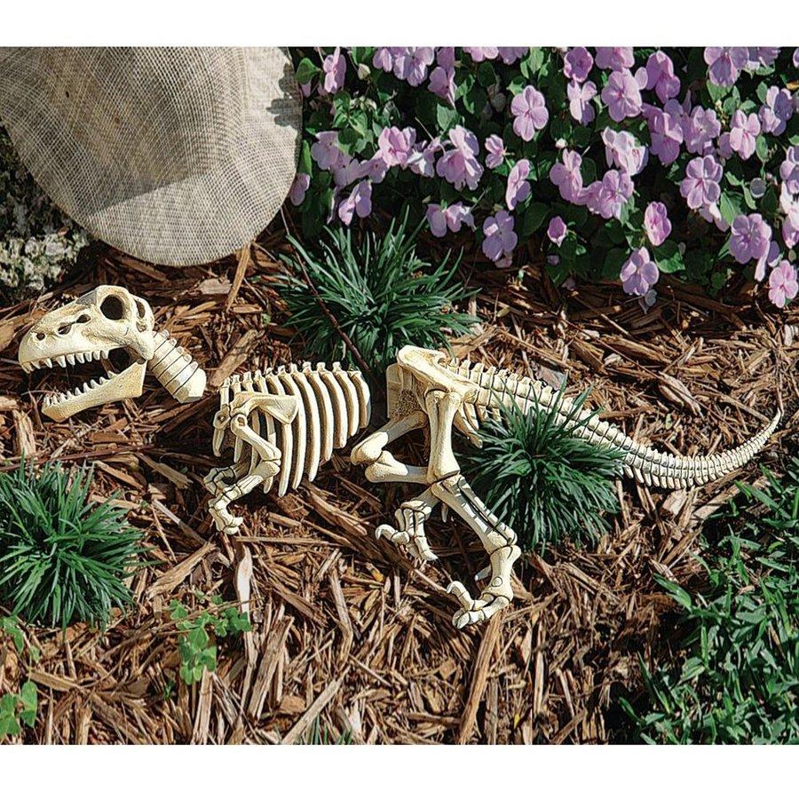 Design Toscano Raptor Skeleton 10.5-in Dinosaur Garden Statue