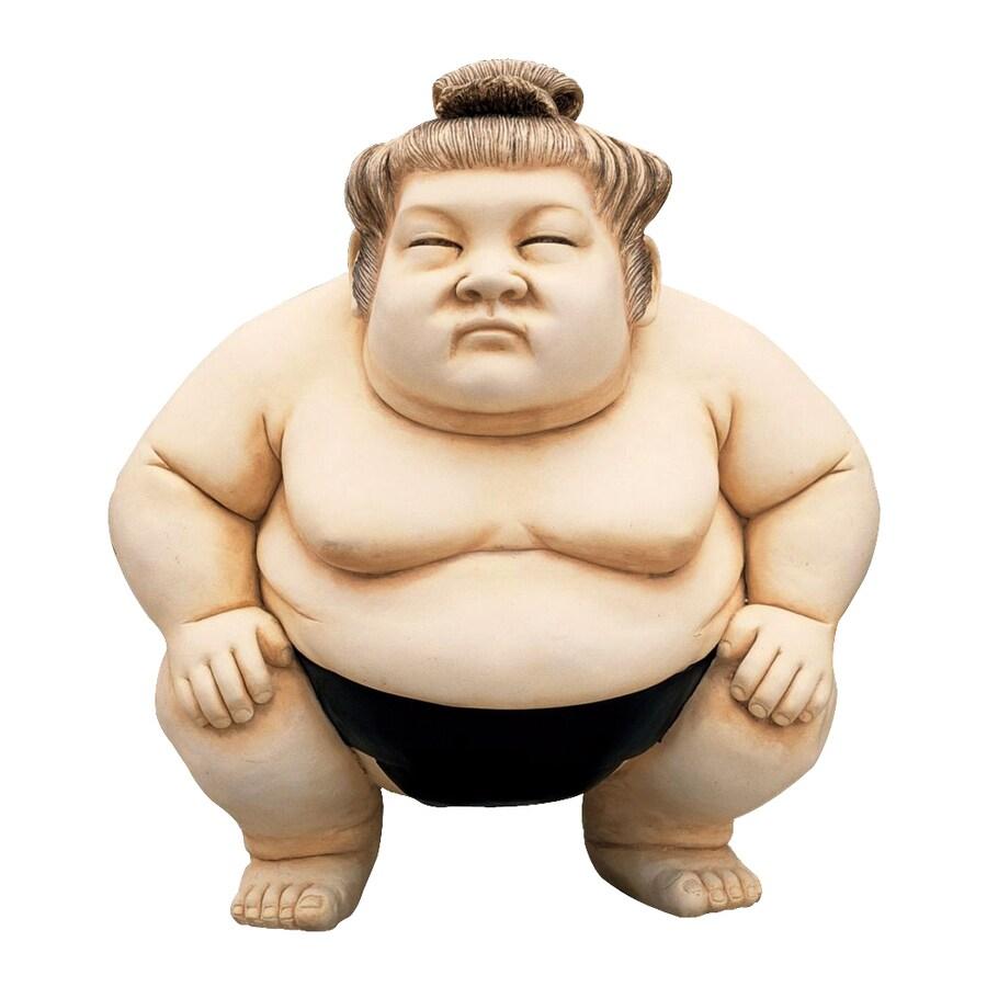 Design Toscano Basho The Sumo Wrestler 14-in Garden Statue
