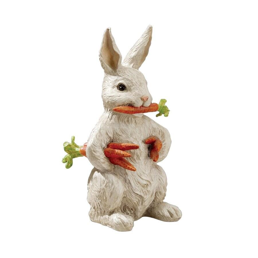 Design Toscano Carotene The Bunny Rabbt 12.5-in Animal Garden Statue