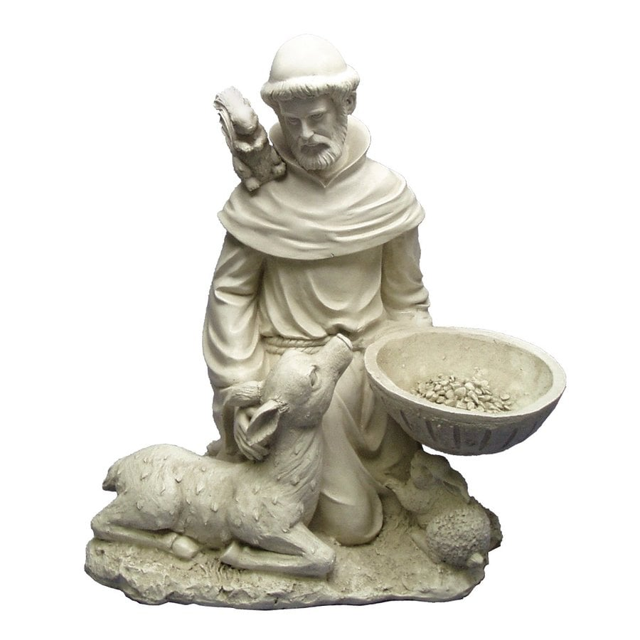 Design Toscano Saint Francis Feeds The Animals 19-in Religion Garden Statue