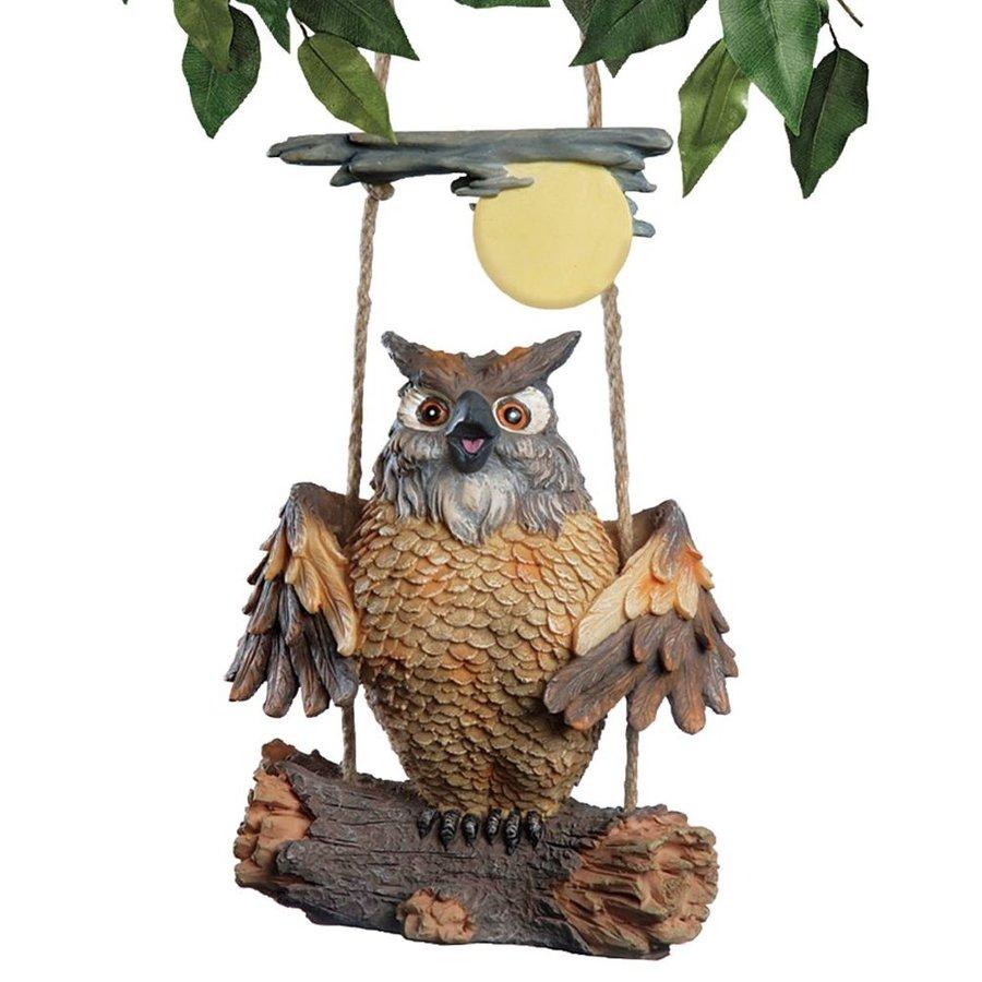 Design Toscano Howie The Hoot Owl 7.5-in Animal Garden Statue