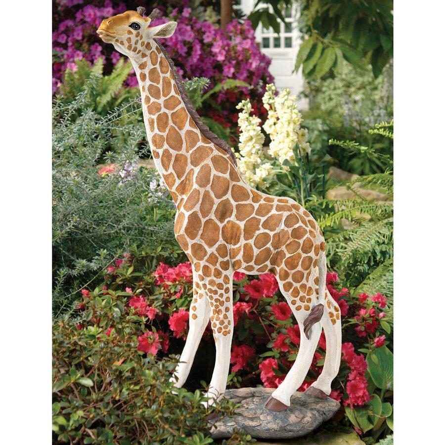 Design Toscano Gerard The Giraffe 36-in Animal Garden Statue