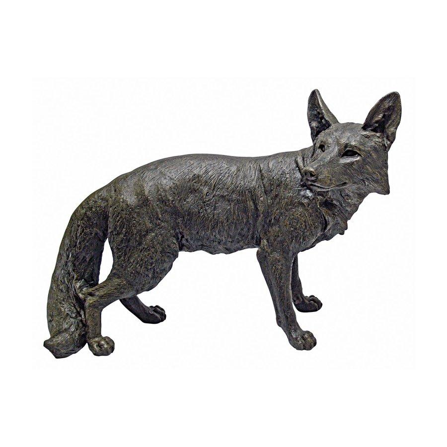 Design Toscano Bushy Tail Fox 19-in Animal Garden Statue
