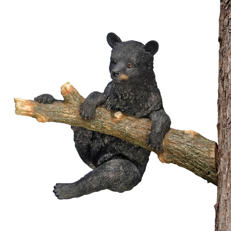 Design Toscano Up A Tree Climbing Black Bear Cub 13-in Animal Garden Statue