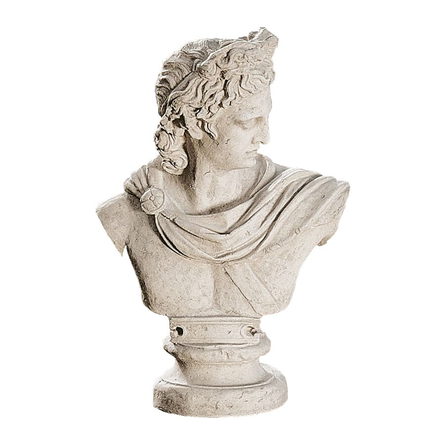 Design Toscano Apollo Belvedere Bust 32.5-in Garden Statue