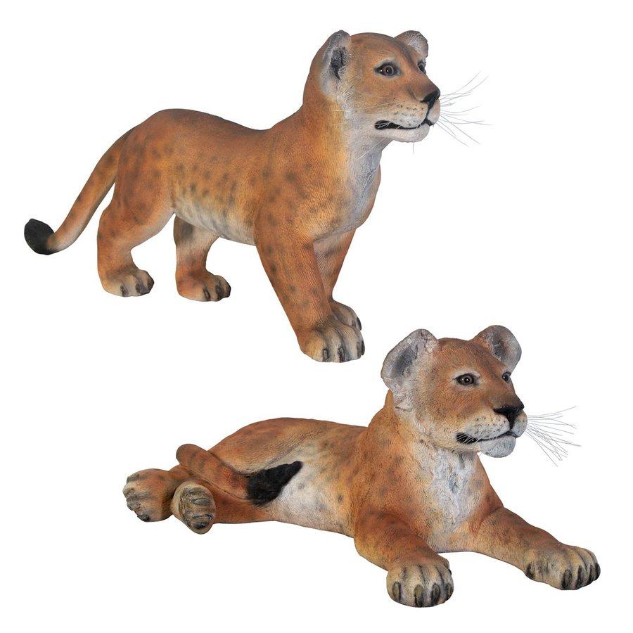 Design Toscano Grand Scale Lion Cubs Animal Garden Statue