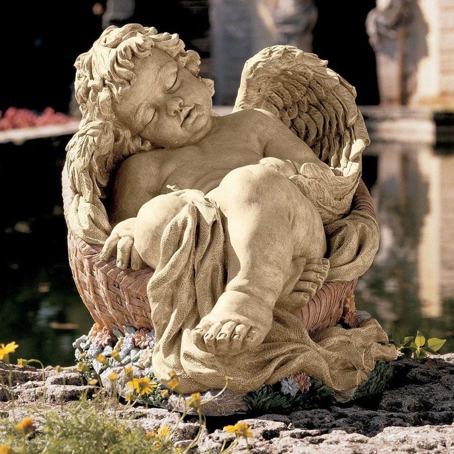 Design Toscano Afternoon Nap 12.5-in Angels and Cherubs Garden Statue