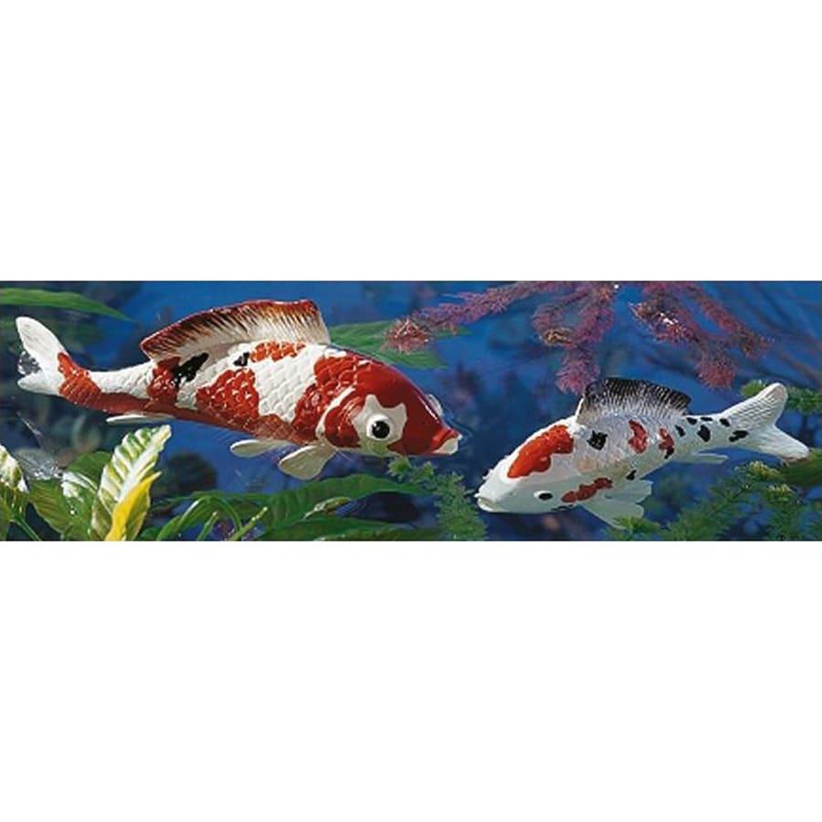 Design Toscano Japanese Floating Koi Animal Garden Statue