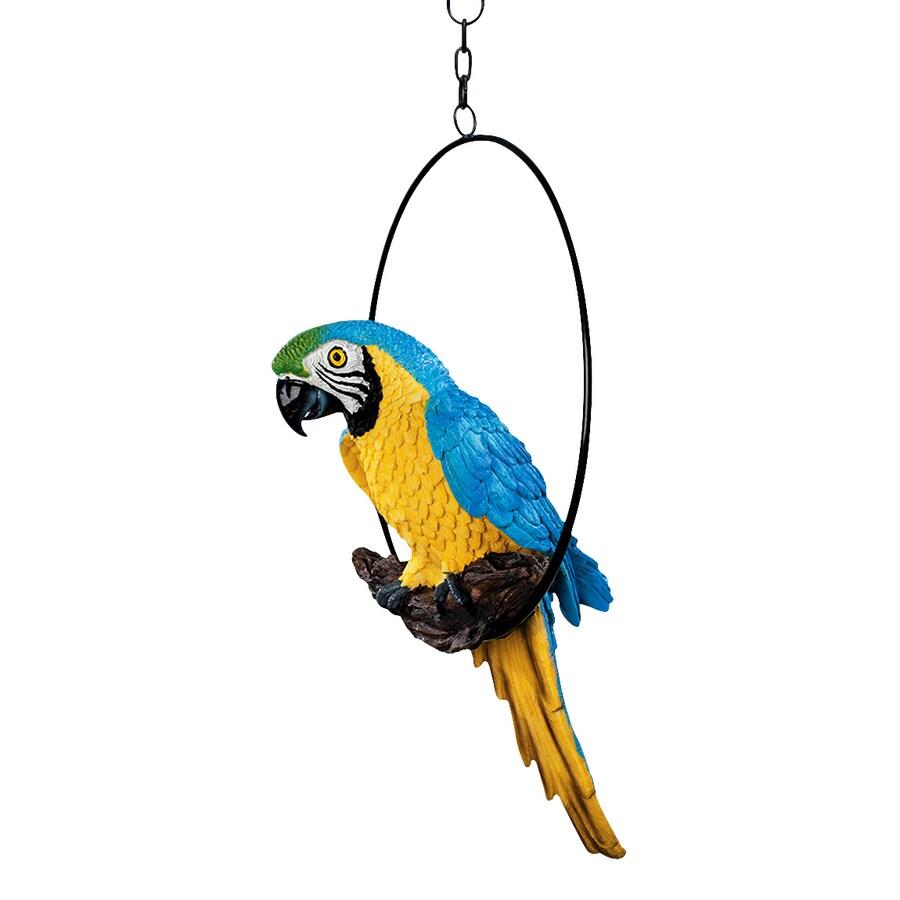 Design Toscano Polly In Paradise 14-in Animal Garden Statue