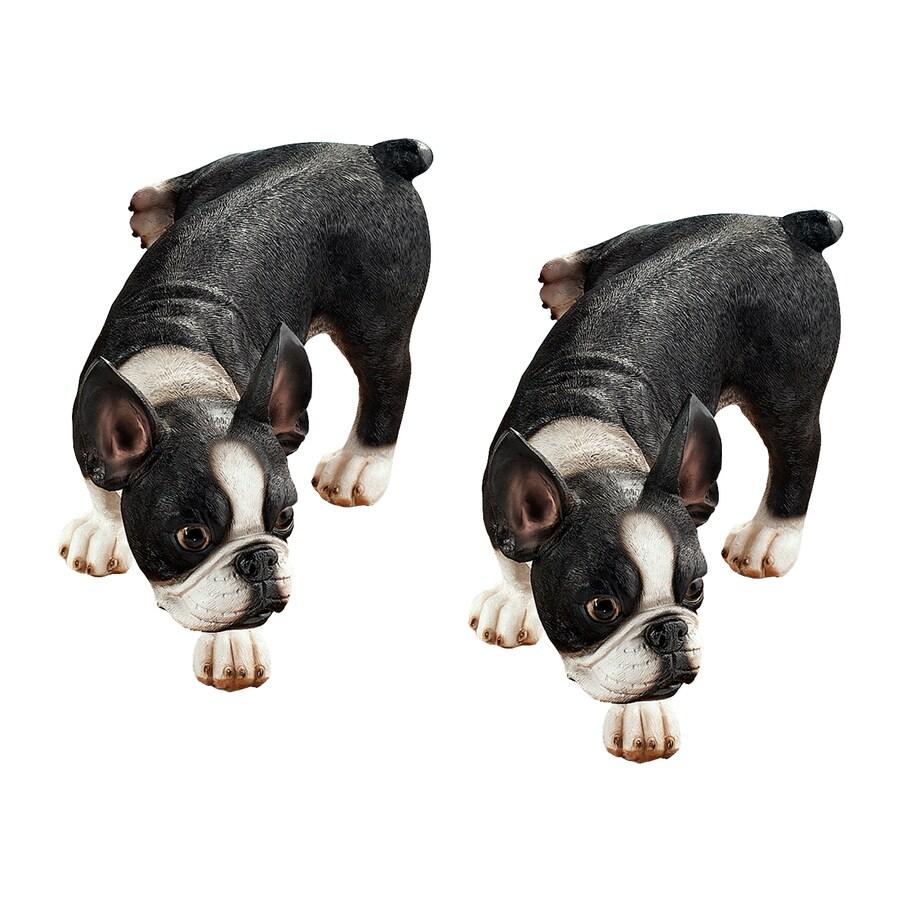 Design Toscano Lifting A Leg Naughty Boston Terrier 7-in Animal Garden Statue
