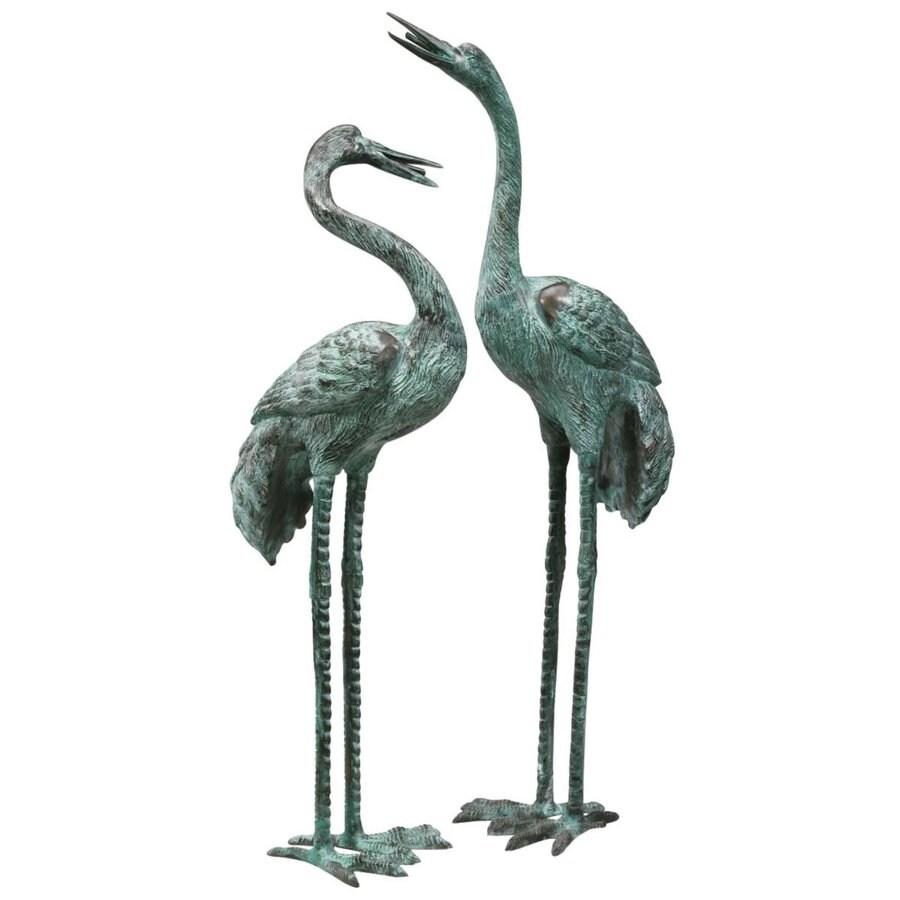 Design Toscano Bronze Crane Set Animal Garden Statue