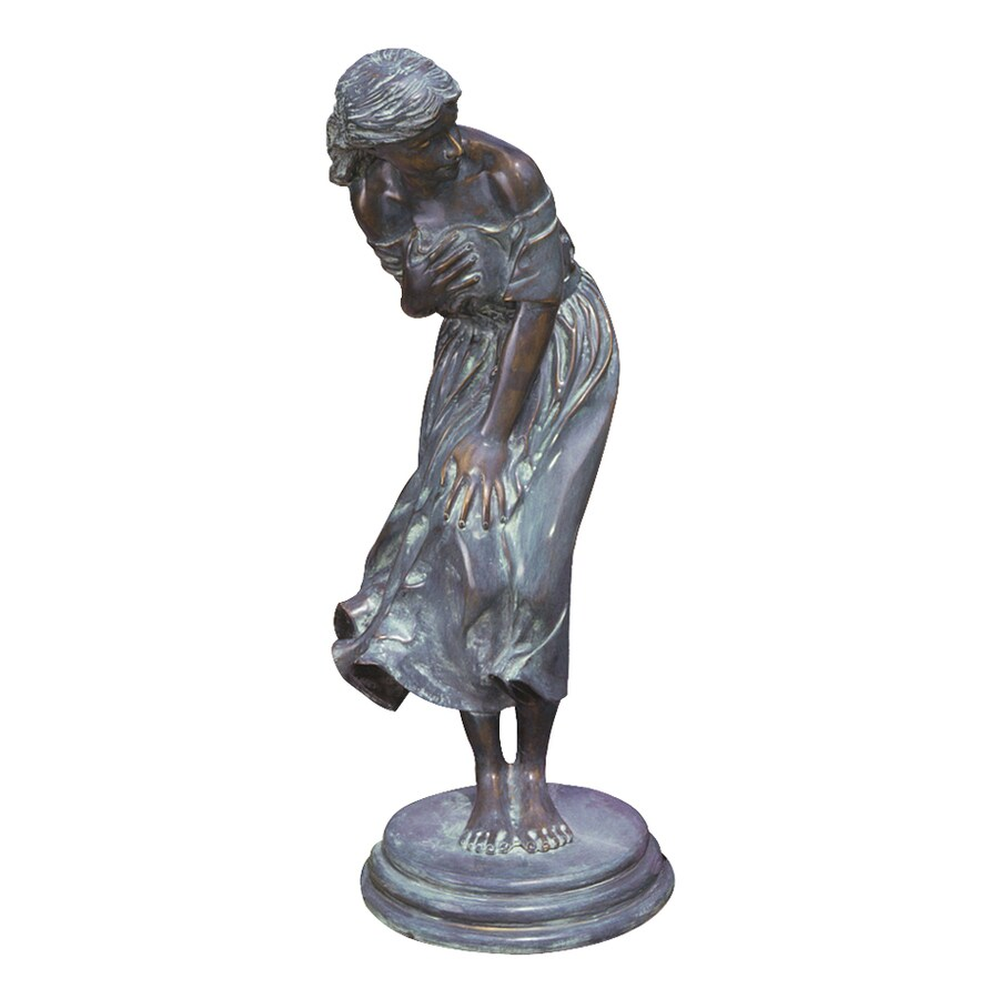 Design Toscano Windblown Sculpture 35-in Garden Statue