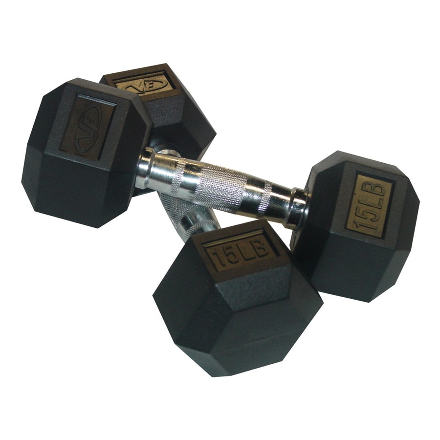 Valor Fitness Set of Two 30 -lb Black Fixed-Weight Dumbbells