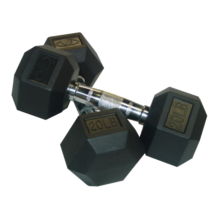 Valor Fitness Set of Two 40 -lb Black Fixed-Weight Dumbbells