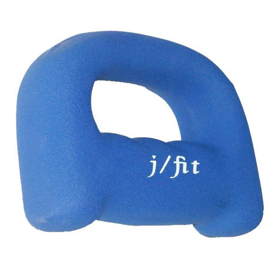 J FIT 1-lb Blue Fixed-Weight Dumbbell