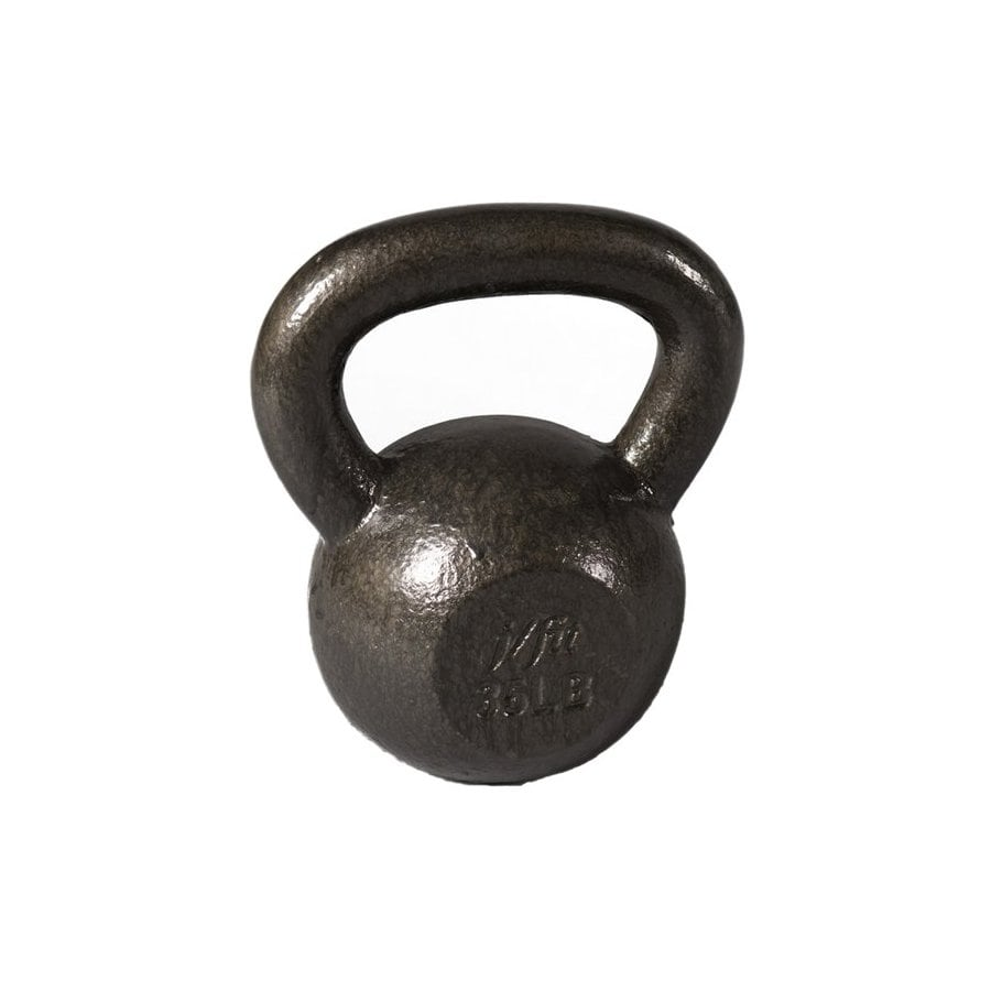 J FIT Gray 30 lbs Fixed-Weight Kettlebell