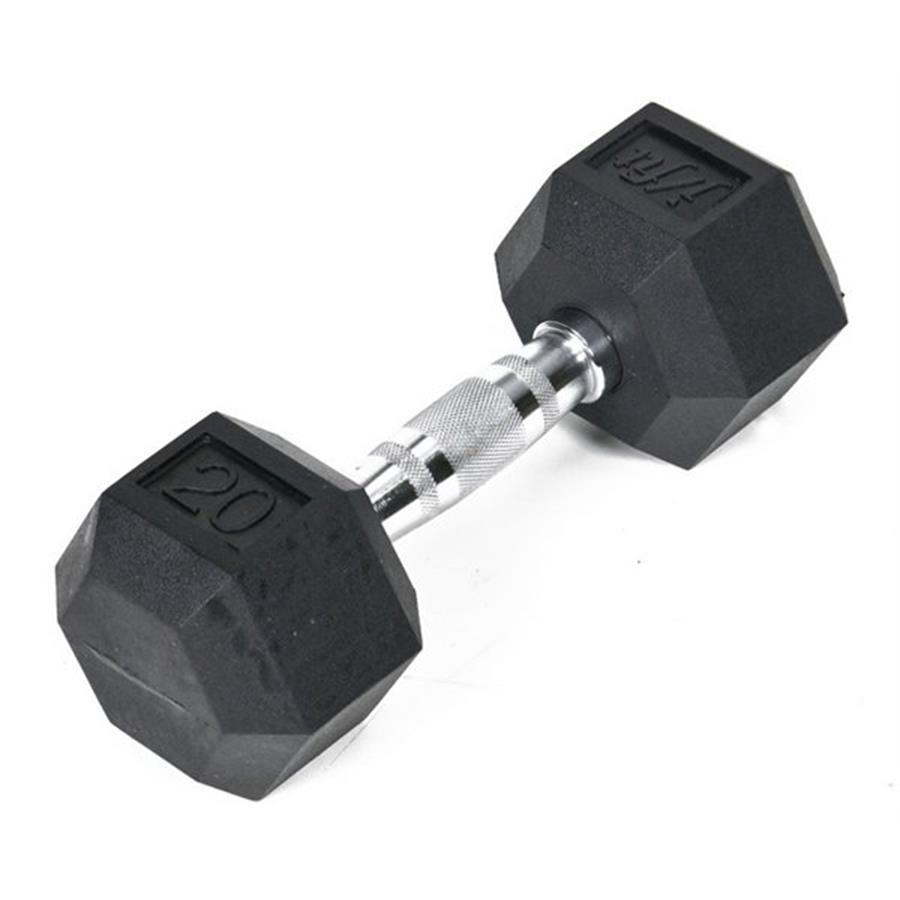 J FIT 20-lb Black Fixed-Weight Dumbbell