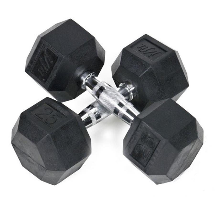 J FIT Set of Two 50-lb Black Fixed-Weight Dumbbells