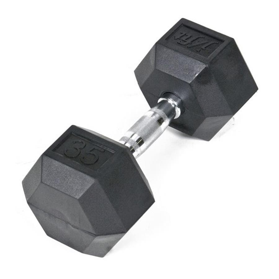 J FIT 35-lb Black Fixed-Weight Dumbbell
