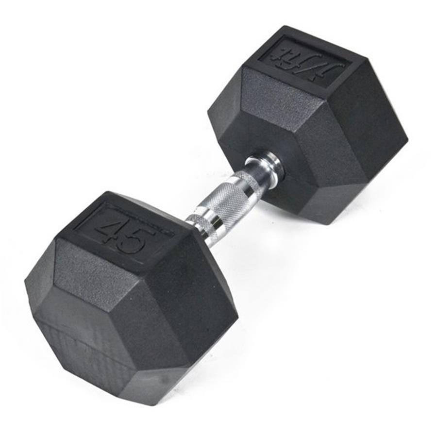 J FIT 45-lb Black Fixed-Weight Dumbbell
