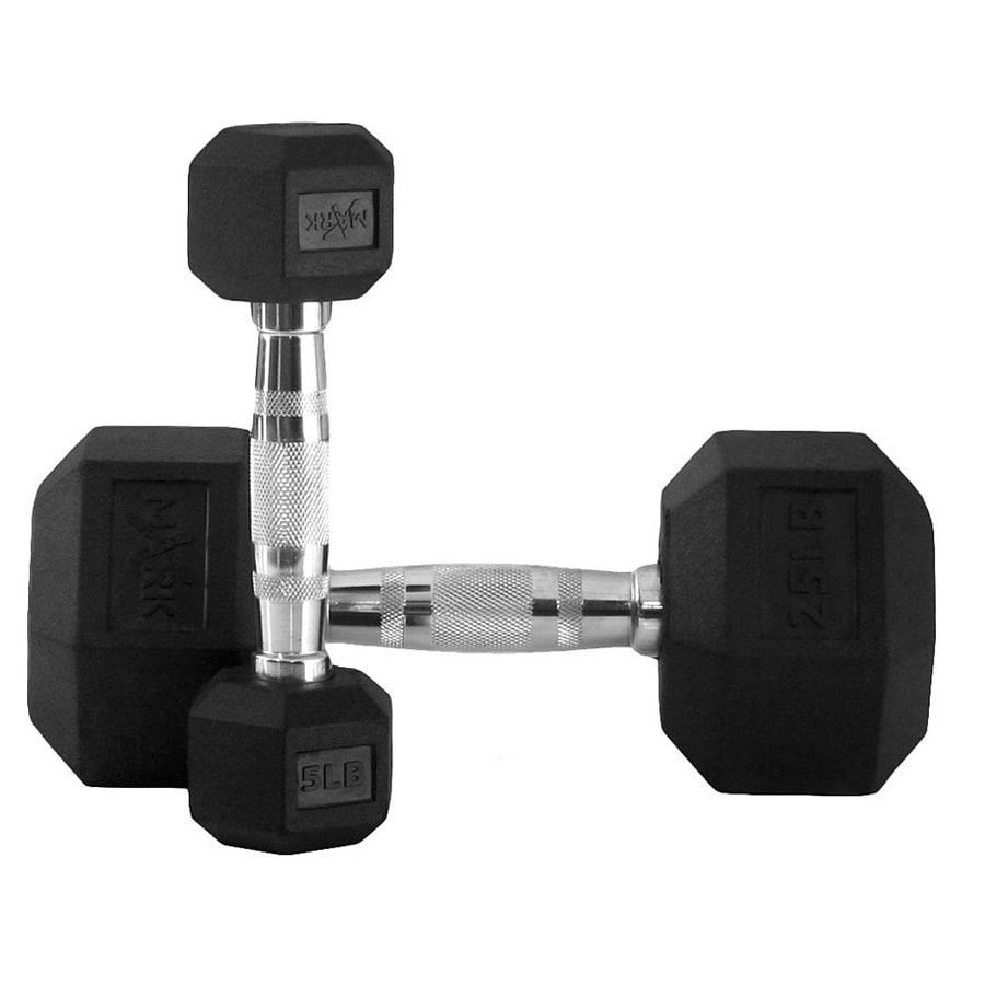 Xmark Fitness 150 -lb Fixed-Weight Dumbbell Set