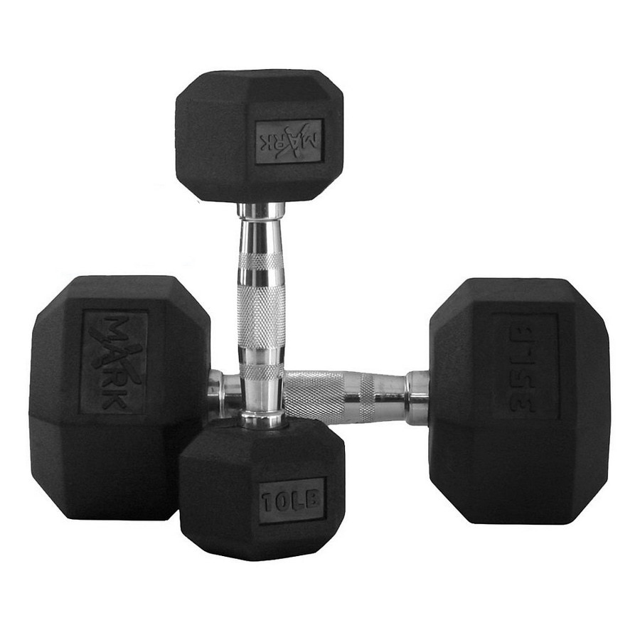Xmark Fitness 280 -lb Fixed-Weight Dumbbell Set