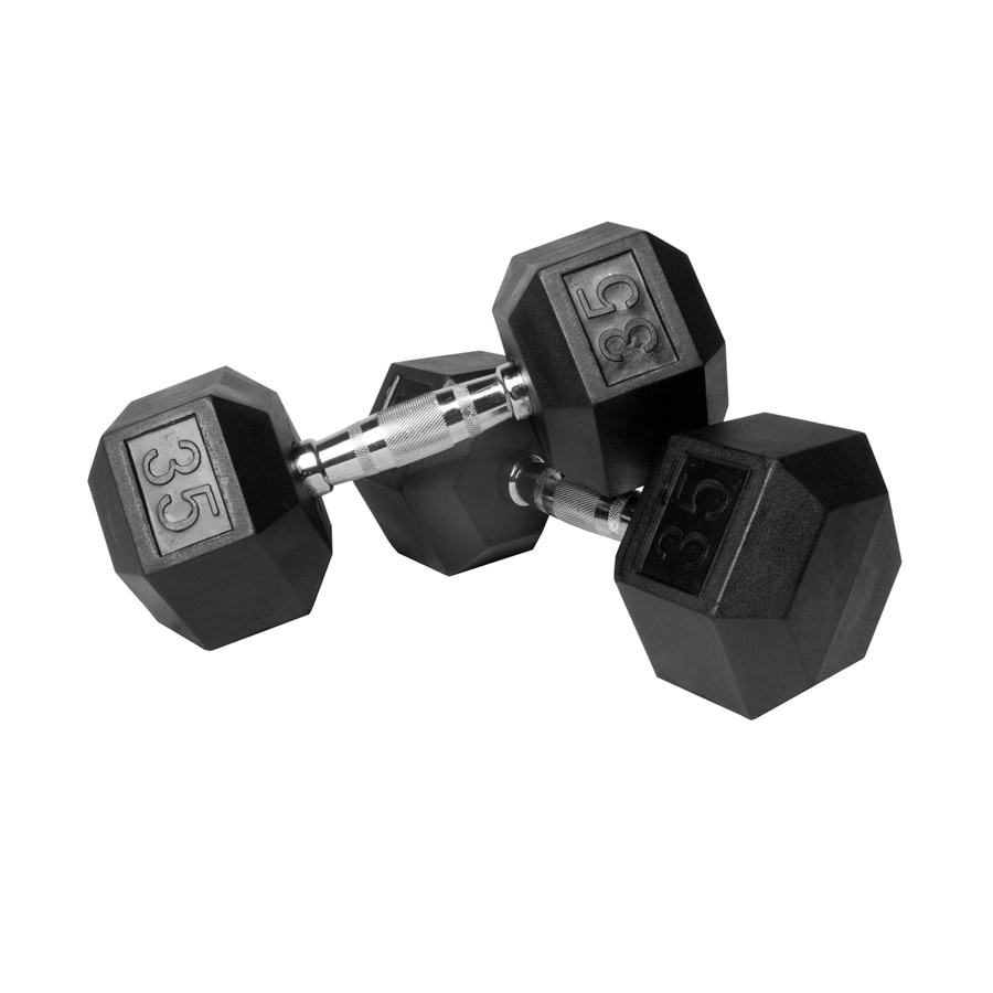 Xmark Fitness 70 -lb Chrome Fixed-Weight Dumbell Set