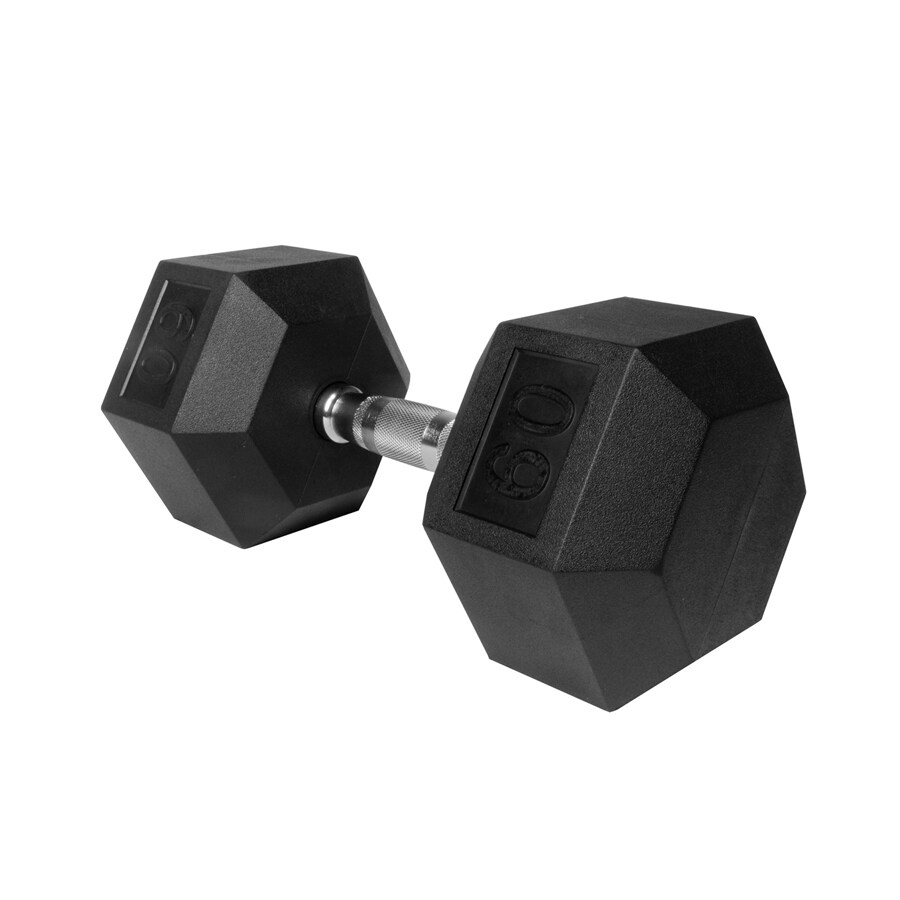 Xmark Fitness 60 -lb Chrome Fixed-Weight Dumbbell