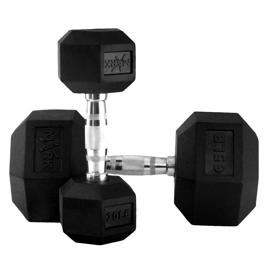 Xmark Fitness 910 -lb Fixed-Weight Dumbell Set