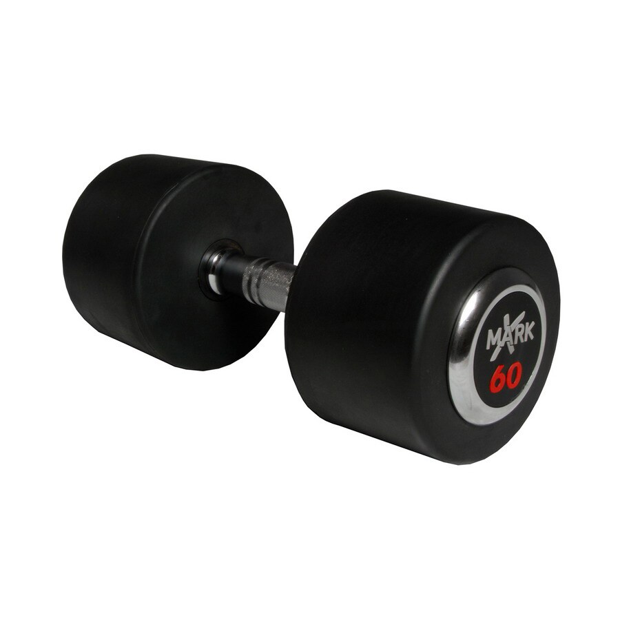 Xmark Fitness 60-lb Chrome Fixed-Weight Dumbbell