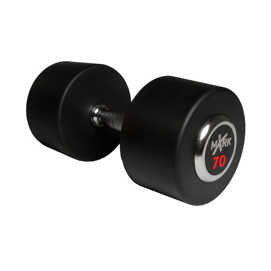 Xmark Fitness 70-lb Chrome Fixed-Weight Dumbbell
