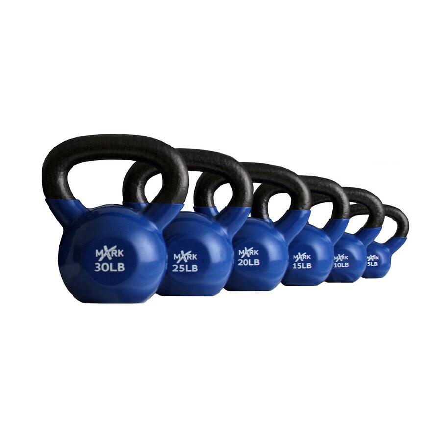 Xmark Fitness 105 lbs Fixed-Weight Kettlebell
