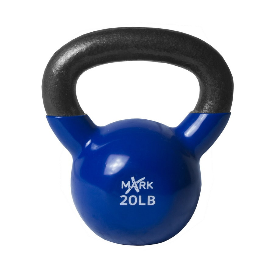 Xmark Fitness 20 lbs Fixed-Weight Kettlebell