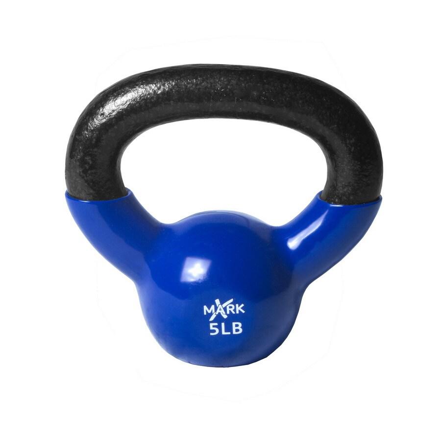 Xmark Fitness 5 lbs Fixed-Weight Kettlebell