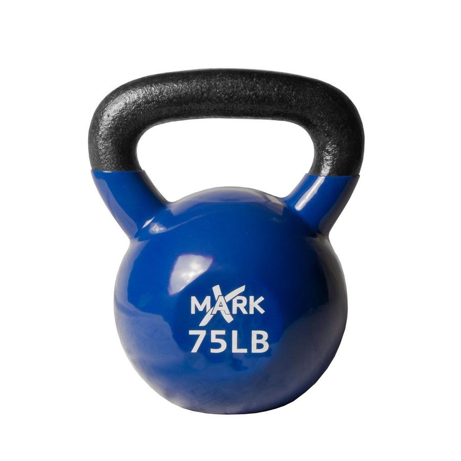 Xmark Fitness 75 lbs Fixed-Weight Kettlebell