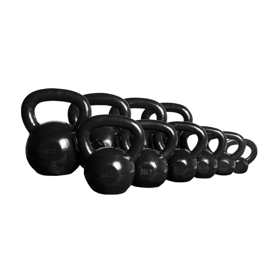Xmark Fitness Black 275 lbs Fixed-Weight Kettlebell